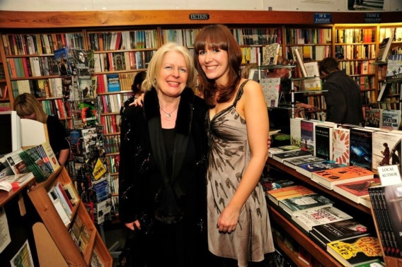 Sheila Crowley and I at the launch of my debut novel