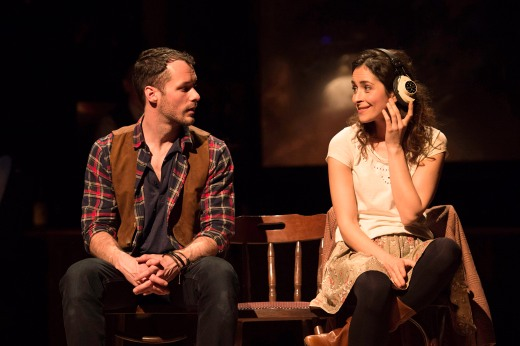 Declan Bennett and Zrinka Cvitešić as Guy and Girl respectively in Once the musical