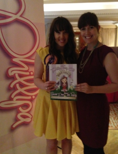 Sarahjane (left) and I at the launch of her second book