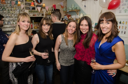 The launch party for Three Little Words at The Haberdashery