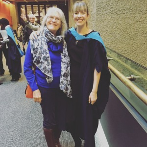 A photo of me and my mum at my graduation ceremony